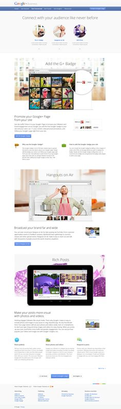A nice design showcasing various google products #webdesign