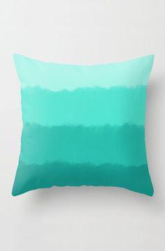 Mint Ombre Throw Pillow