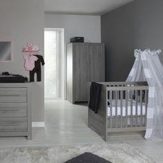 Babykamer Vittoria Grijs - Ledikant - Commode - Kast   Babypark
