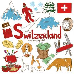 Switzerland Culture Map Printable There are many wonderful things about the Swiss–from the cheese all the way to the bank, help your child learn more about Geography For Kids, Teaching Geography, World Geography, Geography Activities, Flags Of European Countries, Countries And Flags, Around The World Theme, World Thinking Day, Activities For Kids