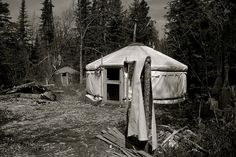 Yurts in the wilderness