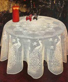 вязаная скатерть 0035 Crochet Doily Patterns, Crochet Doilies, Crochet Flowers, Crochet Lace, Peacock Crochet, Mantel Redondo, Fillet Crochet, Crochet Tablecloth, Antique Lace