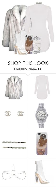 """""""$$$"""" by xbad-gyalx ❤ liked on Polyvore featuring Natural Blue, Chanel, Rolex, 1928 and Topshop"""