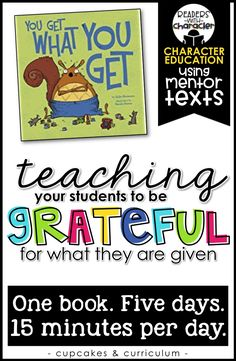 Teaching students to be grateful and gracious; you get what you get and don't throw a fit; character education and social skills in the classroom Middle School Counselor, Elementary School Counseling, School Social Work, Elementary Schools, Career Counseling, Classroom Expectations, Classroom Behavior, Classroom Management, Behavior Management