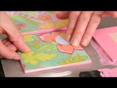 How to make a paper quilt with scrapbook paper from Plaid Craft TV #PlaidCrafts  #crafts