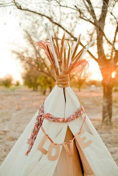 Kids only area--teepee or tent with coloring books, crayons, puzzles, treats, and flashlights