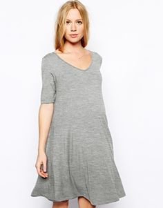 love this maternity dress in both grey and navy
