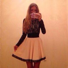 $26.00 | Stitching lace chiffon dress KL0114DI