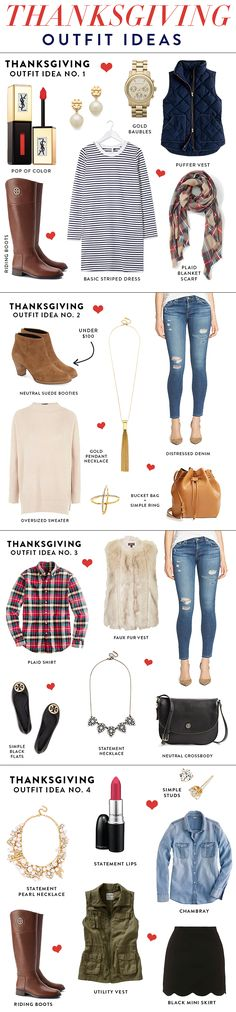 What to wear to Thanksgiving: 4 different thanksgiving outfit ideas // thanksgiving outfit ideas // casual outfit ideas for fall // fall outfits // layering outfits // chambray shirt outfit ideas // denim shirt // plaid shirt // riding boots outfits