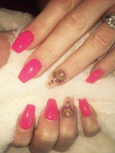 #nailsbysteph #pink nails love these!