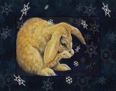Snow Bunny-un ensemble de cartes mélodie Lea agneau voeux de Noël