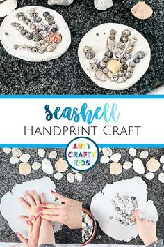 Looking for easy seashell crafts for kids? These seashell handprint crafts for kids are simple   make perfect summer crafts for kids to make, plus they make wonderful keepsakes! Get instructions for these handprint seashell crafts for kids here! DIY Seashell Crafts Kids Ideas | Summer Handprint Crafts for Kids Parent Gifts | Preschool Handprint Crafts for Kids | Summertime Crafts for Kids | DIY Kids Gifts | Seashell Crafts DIY Kids | Handprint Gifts Ideas | Clay Handprint Ornaments… Summer Crafts For Kids, Diy Gifts For Kids, Crafts For Kids To Make, Easy Crafts For Kids, Kids Diy, Toddler Crafts, Summer Fun, Seashell Crafts Kids, Easy Arts And Crafts