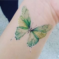 """165 Likes, 3 Comments - PAPERSELF Official (@paperself) on Instagram: """"Our new Butterfly tattoo part of our transparency collection 🦋 These delicate tattoos are semi-…"""""""
