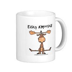Easily Amoosed!-Sitting Moose Coffee Mug