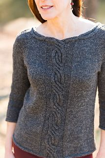 Milana pullover by Jennifer Wood Cable Knitting, Sweater Knitting Patterns, Knitting Designs, Knit Patterns, Hand Knitting, Jennifer Wood, Handgestrickte Pullover, Creation Couture, Pulls