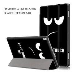 Case For Lenovo TAB4 Tab 4 10 Plus TB-X704F TB-X704N Smart Cover Funda Tablet Sleep Wake PU Folding Slim Stand Case #Affiliate