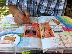 """Journal Fodder Junkies: Free online class by the authors of """"Art Journaling 365."""""""