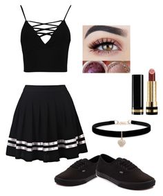 """""""Weekend Cute outfit"""" by abbaroocortez on Polyvore featuring Boohoo, Vans, Betsey Johnson and Gucci"""