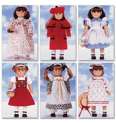 DOLL CLOTHES PATTERN fits American Girl Samantha by WhatCameFirst, $6.99