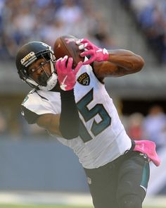 Oct 4, 2015; Indianapolis, IN, USA; Jacksonville Jaguars receiver Allen Robinson (15) makes a catch in the second half against the Indianapolis Colts at Lucas Oil Stadium. Mandatory Credit: Thomas J. Russo-USA TODAY Sports