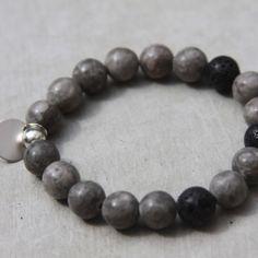 grey mai jasper beaded bracelet