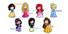 disney princess chibis - Buscar con Google