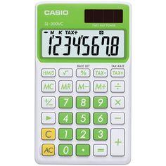 Casio Solar Wallet Calculator With 8-digit Display (green)