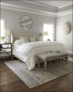 Master Bedroom Rug Small Bedroom Ideas To Make The Most Of Your Space . 9 Best Kids Bedroom Size And Layout Images Bedroom Size . 1 Ft Muted Turkish Oushak Rug Washed Out Pastel . Home Design Ideas Farmhouse Master Bedroom, Master Bedroom Design, Cozy Bedroom, Home Decor Bedroom, Modern Bedroom, Bedroom Rugs, Bedroom Designs, Light Gray Bedroom, Bedroom Windows