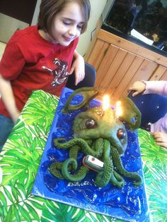 """I made a Cthulhu birthday cake for my eight year old son this year.""   - Made of Winby Holly Pritchett Winstead"