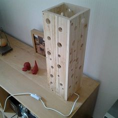 Lamp made of pallet wood etsy diy and crafts in 2019 деревянная люстра, с. Diy Wood Projects, Wood Crafts, Woodworking Projects, Lampe Decoration, Into The Woods, Wood Pallets, Pallet Wood, Wooden Lamp, Wood Art