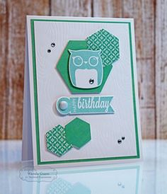 July SOTM Birthday Owl Card by Wanda Guess #Cardmaking, #CAS, #Birthday, #Stampofthemonth, http://tayloredexpressions.com/kits.html
