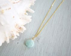 Amazonite Crystal Necklace Amazonite by MoonTideJewellery on Etsy