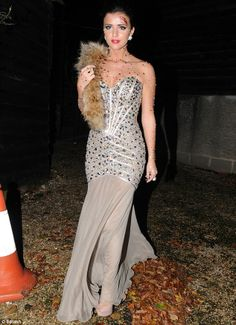 Spooktacular: Lucy looked super glamorous in a floor-length dress for the Halloween special of The Only Way is Essex last week Worst Celebrities, Black Leotard, Celebrity Halloween Costumes, Women Camping, Body Figure, Mum Birthday, Floor Length Dresses, Leotards, Strapless Dress
