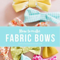 How to Make Fabric Bows | Zurcher Co | He + I = Party of 5