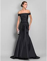 Image result for evening gowns black narrow