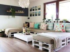 Móveis de paletes: faça um sofá de paletes