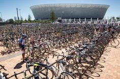 Cape Argus cycle race, with Cape Town stadium in the back ground Bike Parking, Out Of Africa, Homeland, Cape Town, Continents, South Africa, Cool Pictures, Have Fun, Tours