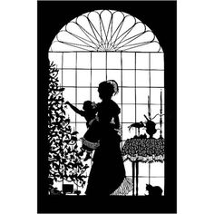 ⓒ Beth White - decorating the tree Silhouette Curio, Silhouette Clip Art, Silhouette Portrait, Paper Cutting, Christmas In July, Christmas Diy, Homemade Christmas, White Christmas, Cut Paper Illustration