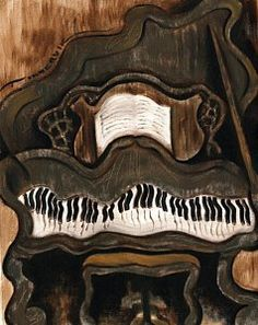 Music Painting - Tommervik Abstract Grand Piano Art Print by Tommervik