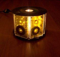 Cassettes Delight in vinyl records plastics lights furniture accessories with Vinyl Records Tape Light Lamp CD