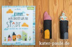 Stadtkind | Komm wir machen was mit Stadt | Herr Pfeffer | Bastelbuch | Naturkind | SnapPap | Stoffreste | DIY | Nähen | Kater Paule näht