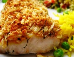 Oven Baked Crusted Trout Fillets