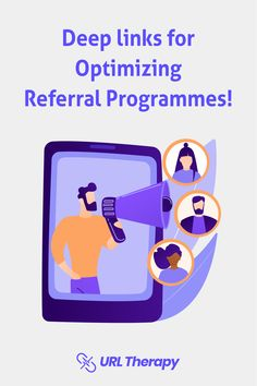 Why DEEP LINKING for Referral Programs? It is an excellent way to influence existing customers to share or recommend the apps among their Freinds and Family Members. Don't forget to update the links with UrlTherapy! Acquire New Users by faster navigation through a single click. Learn more with www.urltherapy.com Deep Linking, Existing Customer, Programming, Mobile App, Don't Forget, The Creator, Therapy, Apps, Marketing