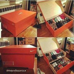 Nike shoe box & Youu0027ll Want to Store Your Sneakers in This Gigantic Nike Shoe Box ...