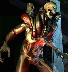 Revenant Doom 3, The Revenant, Frankenstein, Statue, Painting, Art, Art Background, Painting Art, Paintings