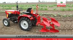 Captain Reversible Plough :  Reversible Plough is an Implement which turns the soil level up side down, Incorporating soil residues, making available more fertile layer for the new crop.  #reversibleplough #plough #ploughmaker