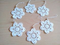 Crochet snowflakes Christmas decorations set of 6 crochet snowflakes Christmas tree decorations close package. Crochet Snowflakes, Crochet Flowers, Christmas Tree Decorations, Crochet Earrings, Crochet Patterns, Etsy, Unique Jewelry, Handmade Gifts, Vintage