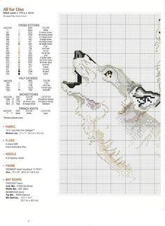 Cross-stitch Wolves, part 3..  with the color chart...    Solo Patrones Punto Cruz | Aprender manualidades es facilisimo.com