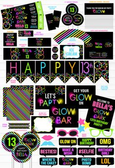 Printable Glow in th