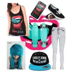 +_+Sk8ter+_+ by cristinazaragoza on Polyvore featuring polyvore fashion style Vans